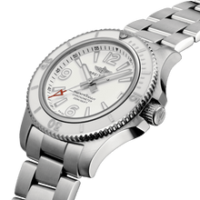 Load image into Gallery viewer, BreitlingA17316D21A1A1 white dial, mixed indexes, stick hands, date display