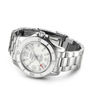 Buy Sell Breitling Superocean Automatic 36 Steel White Bracelet A17316D21A1A1 diver watch at Time Galaxy Malaysia