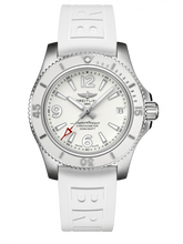 Load image into Gallery viewer, Breitling Superocean Automatic 36 Stainless Steel White Rubber Pin A17316D21A1S1 Watch