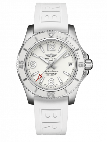 Breitling Superocean Automatic 36 Stainless Steel White Rubber Pin A17316D21A1S1 Watch