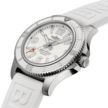 Load image into Gallery viewer, Breitling A17316D21A1S1 white dial, mixed indexes, stick hands, date display