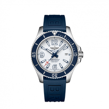 Load image into Gallery viewer, Breitling Superocean Automatic 42 Steel White Rubber Pin A17366D81A1S1 Watch