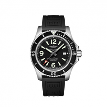 Load image into Gallery viewer, Breitling Superocean Automatic 44 Steel Black Rubber Pin A17367D71B1S1 Watch