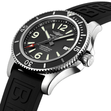 Load image into Gallery viewer, Breitling A17367D71B1S1 black dial, mixed indexes, date display