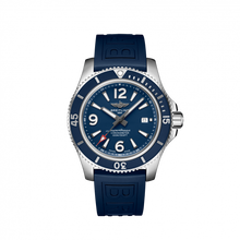 Load image into Gallery viewer, Breitling Superocean Automatic 44 Steel Blue Rubber Pin A17367D81C1S1 Watch
