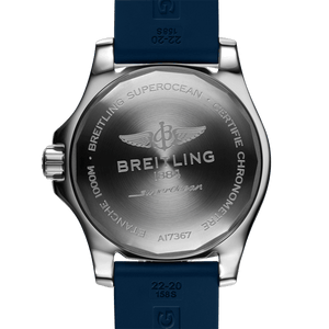 Breitling A17367D81C1S1 powered by B17 caliber, ETA 2824-2 base, made of stainless steel and sapphire glass, water resistant up to 1000 m