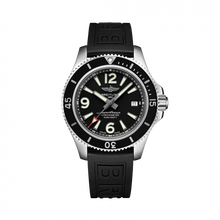 Load image into Gallery viewer, Breitling Superocean Automatic 42 Steel Black Rubber Pin A17366021B1S1 Watch