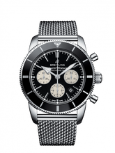 Load image into Gallery viewer, Breitling Superocean Heritage B01 Chronograph 44 Steel Black Bracelet AB0162121B1A1 Watch