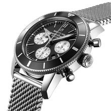 Load image into Gallery viewer, Breitling AB0162121B1A1 black dial, stick and dot indexes, date display, chronograph, column wheel, chronometer