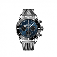 Load image into Gallery viewer, Breitling Superocean Heritage B01 Chronograph 44 Steel Blackeye Blue Bracelet AB0162121C1A1 Watch