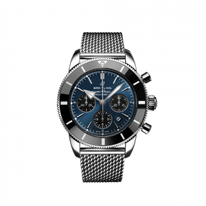 Breitling Superocean Heritage B01 Chronograph 44 Steel Blackeye Blue Bracelet AB0162121C1A1 Watch