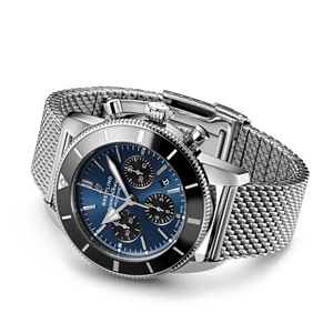 Buy Sell Breitling Superocean Heritage II B01 Chronograph 44 Stainless Steel Blackeye Blue AB0162121C1A1 at Time Galaxy Watch