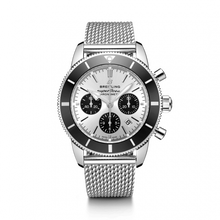 Load image into Gallery viewer, Breitling Superocean Heritage B01 Chronograph 44 Steel Silver Bracelet AB0162121G1A1 Watch