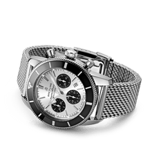 Load image into Gallery viewer, Buy Sell Breitling Superocean Heritage II B01 Chronograph 44 Stainless Steel Silver Bracelet AB0162121G1A1 at Time Galaxy Watch