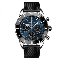 Load image into Gallery viewer, Breitling Superocean Heritage B01 Chronograph 44 Steel Blackeye Blue Rubber Folding AB0162121C1S1 Watch