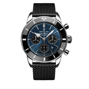 Breitling Superocean Heritage B01 Chronograph 44 Steel Blackeye Blue Rubber Folding AB0162121C1S1 Watch