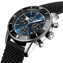 Load image into Gallery viewer, Breitling AB0162121C1S1 blue dial, stick and dot indexes, arrow hands, date display, chronograph, column wheel