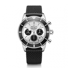 Load image into Gallery viewer, Breitling Superocean Heritage B01 Chronograph 44 Steel Silver Rubber Aero Classic Folding AB0162121G1S1 Watch