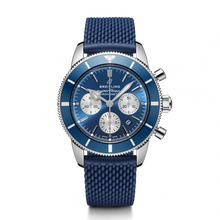 Load image into Gallery viewer, Breitling Superocean Heritage B01 Chronograph 44 Steel Blue Rubber Aero Classic Folding AB0162161C1S1 Watch