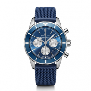 Breitling Superocean Heritage B01 Chronograph 44 Steel Blue Rubber Aero Classic Folding AB0162161C1S1 Watch