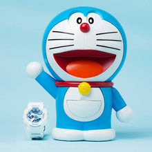 Load image into Gallery viewer, Authentic Baby-G x Doraemon watch comes with 18x23 centimeter Doraemon figure