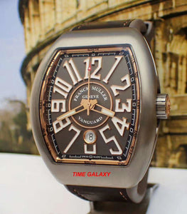 Authentic Franck Muller Vanguard Titanium Gold Line V45SCDTTTBR.5N watch