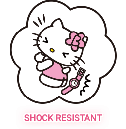 Hello kitty watch with shock resistant function
