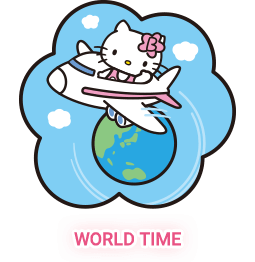 Hello kitty watch support world time function