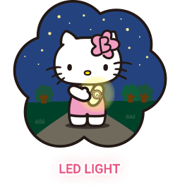 Hello kitty watch support night mode with LED light function