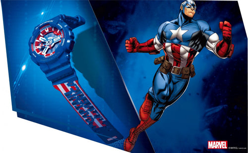 Casio G-shock special collaboration Marvel the Avenger Captain America limited edition wrist watch