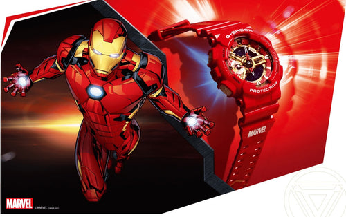 Casio G-shock special collaboration Marvel the Avenger Ironman limited edition wrist watch