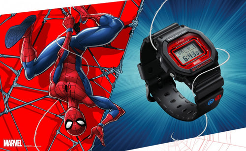 Casio G-shock special collaboration Marvel the Avenger Spiderman limited edition wrist watch