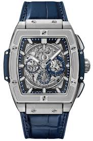 Authentic Hublot Spirit of Big Bang Titanium Blue 45mm 601.NX.7170.LR Watch