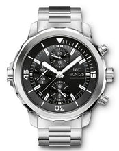 Load image into Gallery viewer, Authentic IWC Aquatimer Chronograph Stainless Steel Black Bracelet IW3768-04 Watch