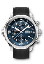Load image into Gallery viewer, Authentic IWC Aquatimer Chronograph Stainless Steel Blue Rubber Expedition Jacques-Yves Cousteau IW3768-05 Watch