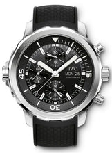 Load image into Gallery viewer, Authentic IWC Aquatimer Chronograph Stainless Steel Black Rubber IW3768-03 Watch