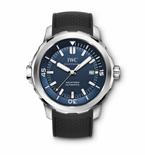 Load image into Gallery viewer, Authentic IWC Aquatimer Automatic Stainless Steel Blue Rubber Expedition Jacques-Yves Cousteau IW3290-05 Watch