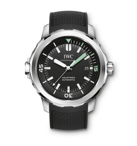 Authentic IWC Aquatimer Automatic Stainless Steel Black Rubber IW3290-01 Watch