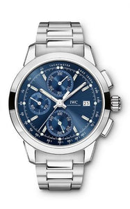 Authentic IWC Ingenieur Chronograph Classic Stainless Steel Blue IW380802 Watch