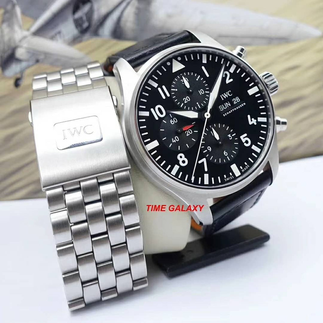 Pre-Owned IWC Pilot's Watch Automatic Chronograph IW377709