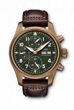 Load image into Gallery viewer, Authentic IWC Pilot's Watch Spitfire Chronograph Spitfire Bronze Green IW387902