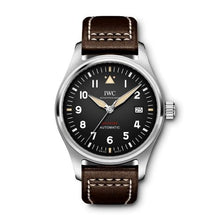 Load image into Gallery viewer, Authentic IWC Pilot's Watch Automatic Spitfire Stainless Steel Black Leather IW326803