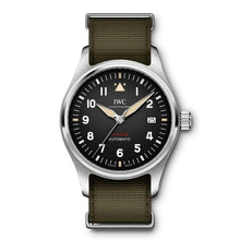 Load image into Gallery viewer, Authentic IWC Pilot's Watch Automatic Spitfire Stainless Steel Black NATO IW326801