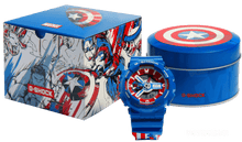 Load image into Gallery viewer, Brand new authentic The Avengers Endgame Captain America watch comes in full package with shield design box