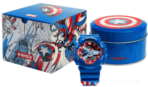 Brand new authentic The Avengers Endgame Captain America watch comes in full package with shield design box