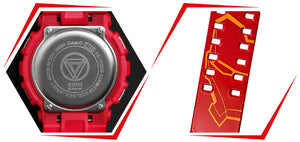 Ironman watch back case embossed with logo