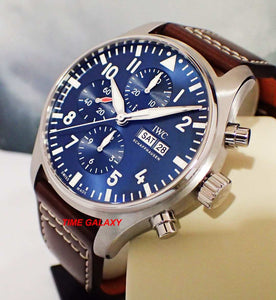 IWC IW377714 Le Petit, blue dial, sapphire glass, stainless steel