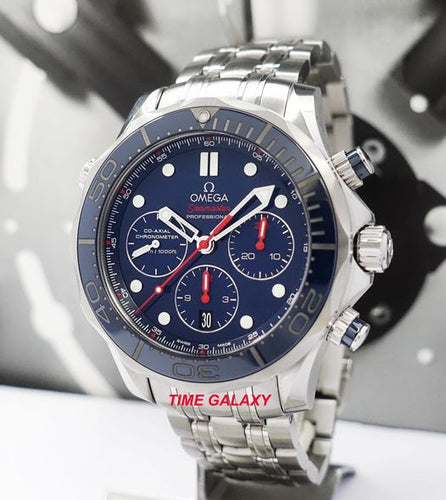 Authentic Pre-Owned Omega Seamaster Diver Co-Axial Chronograph 212.30.44.50.03.001 Watch
