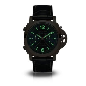 Panerai PAM1020 blue dial, stick and dot indexes, stick hands, date display, night indicator
