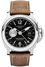 Load image into Gallery viewer, Authentic Panerai Luminor GMT Automatic Acciaio PAM 1088 Watch